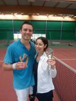 Nilgun et Vincent - Finalistes du tournoi Double Mixte